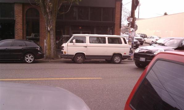 Hipster van in the hipster neighborhood of Ballard.