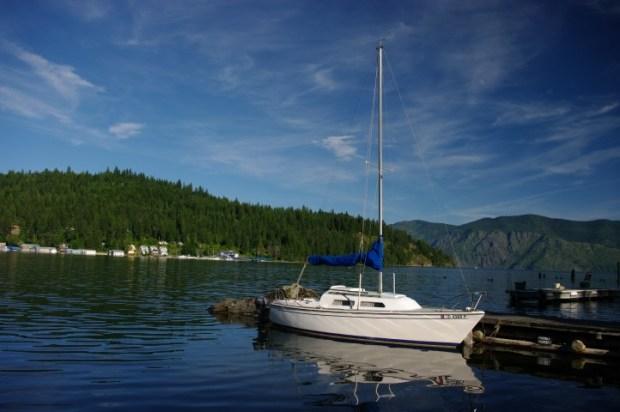 Boat in the bay.