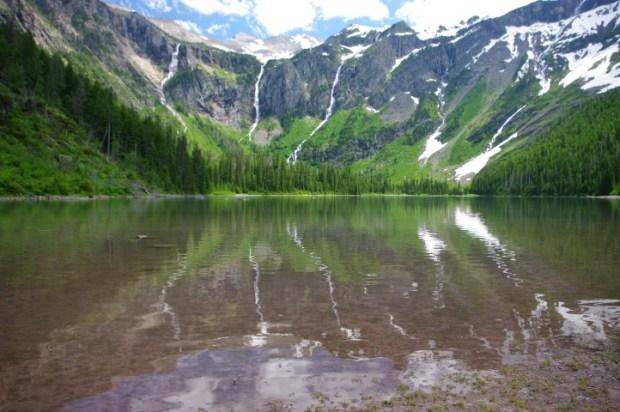 Avalanche Lake reflection.