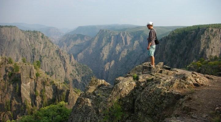 Falling into canyons at Black Canyon National Park