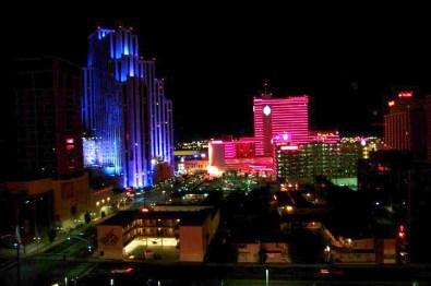 Reno at night.