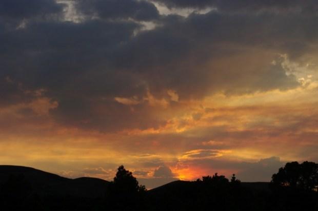 Sunset east of Austin, NV.
