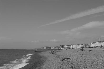 The Brighton beach.