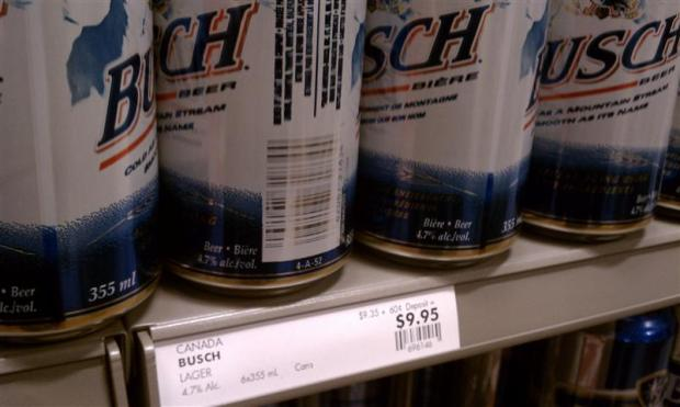 $9.95 for a six-pack of Busch. Yikes.