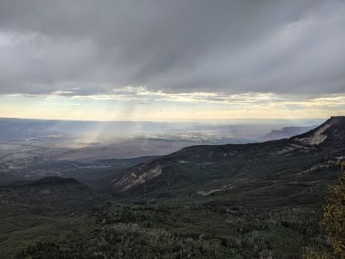 Sun beams in Grand Valley
