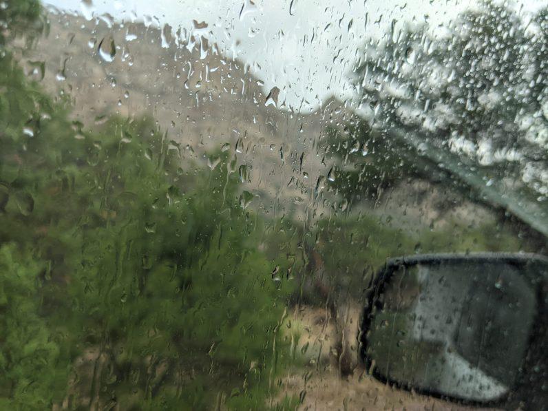 A rainy arrival in Irish Canyon