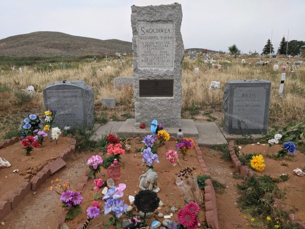 Sacajawea and her sons' gravesites in Fort Washakie, WY