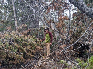 Paul on a rough trail