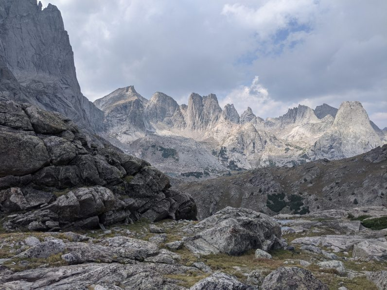 Last view of the Cirque of the Towers