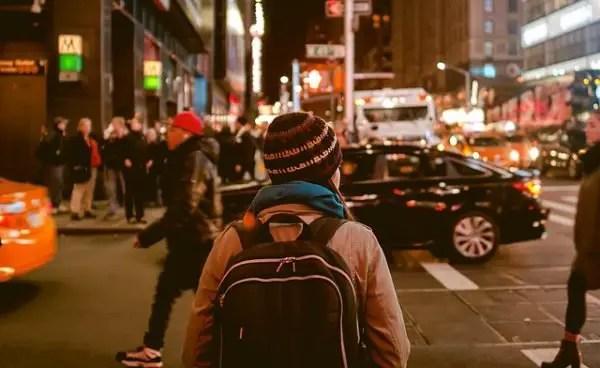 safe pedestrian in the city