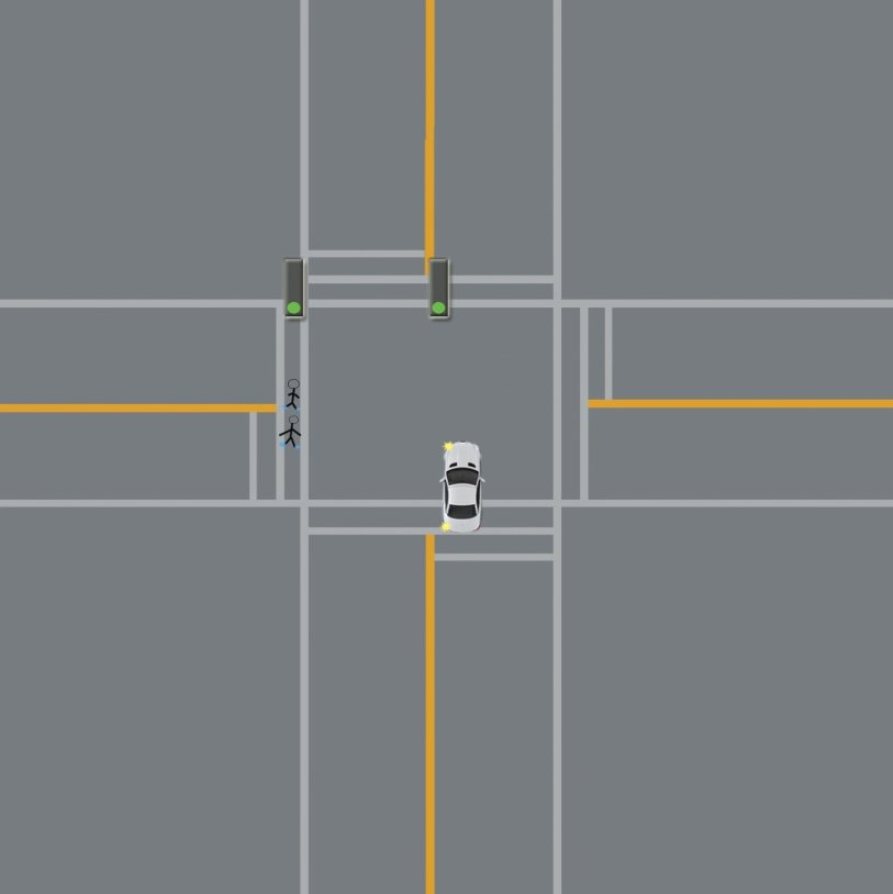pull into the intersection