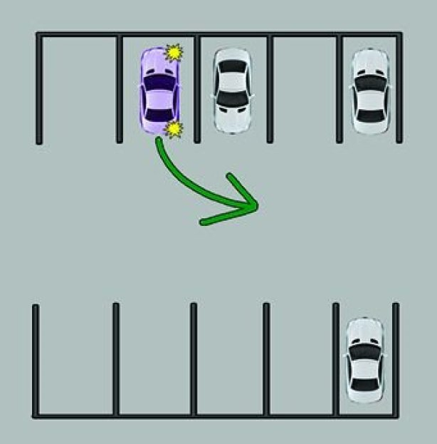 turn signal parking lot