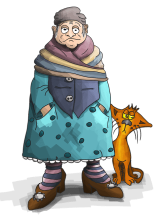 granny slow pedestrian