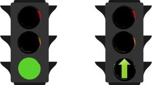 green light vs green arrow