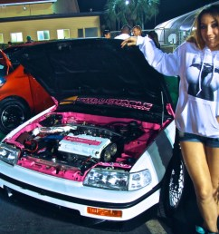 who wasn t modeling as much as she was showing off a complete restoration build including an engine swap in a 1988 honda crx that was literally a wreck  [ 1200 x 800 Pixel ]
