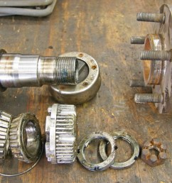 of these shared front axle parts one of the most significant was sealed unit bearing this all in one hub and bearing assembly did away with the traditional  [ 1200 x 773 Pixel ]