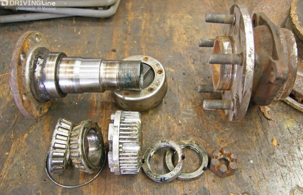 medium resolution of of these shared front axle parts one of the most significant was sealed unit bearing this all in one hub and bearing assembly did away with the traditional