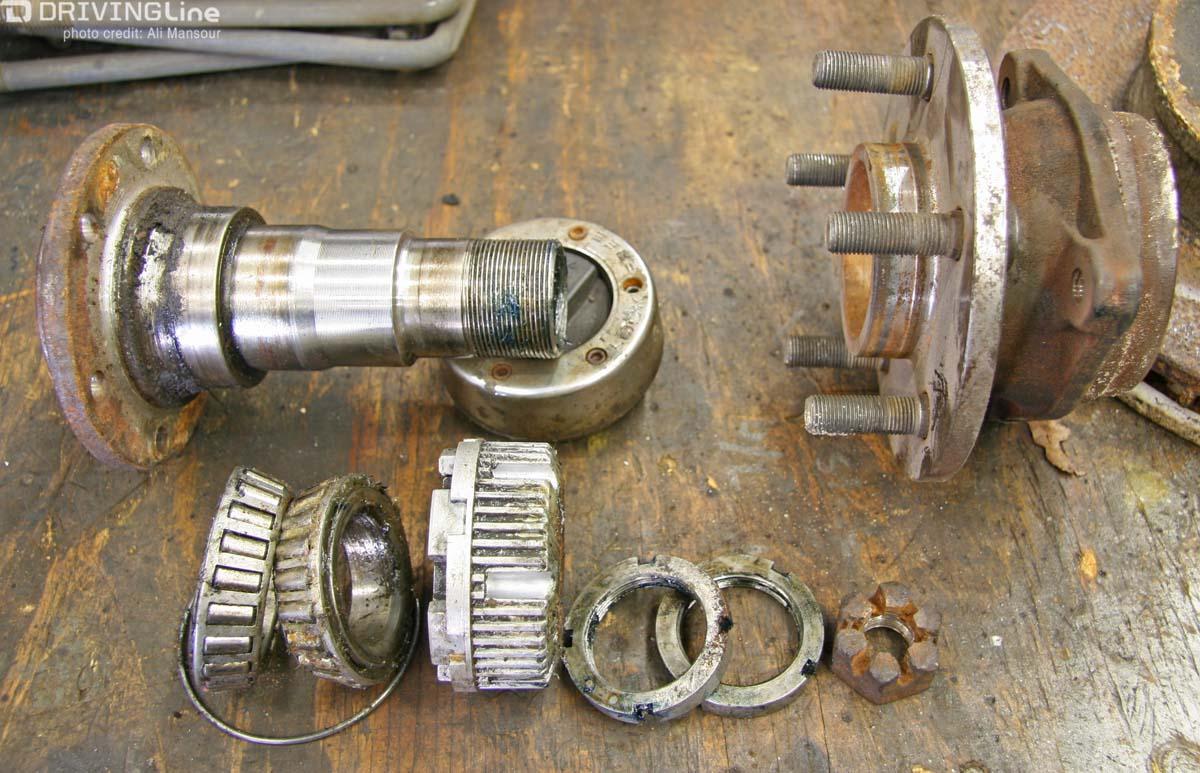hight resolution of of these shared front axle parts one of the most significant was sealed unit bearing this all in one hub and bearing assembly did away with the traditional