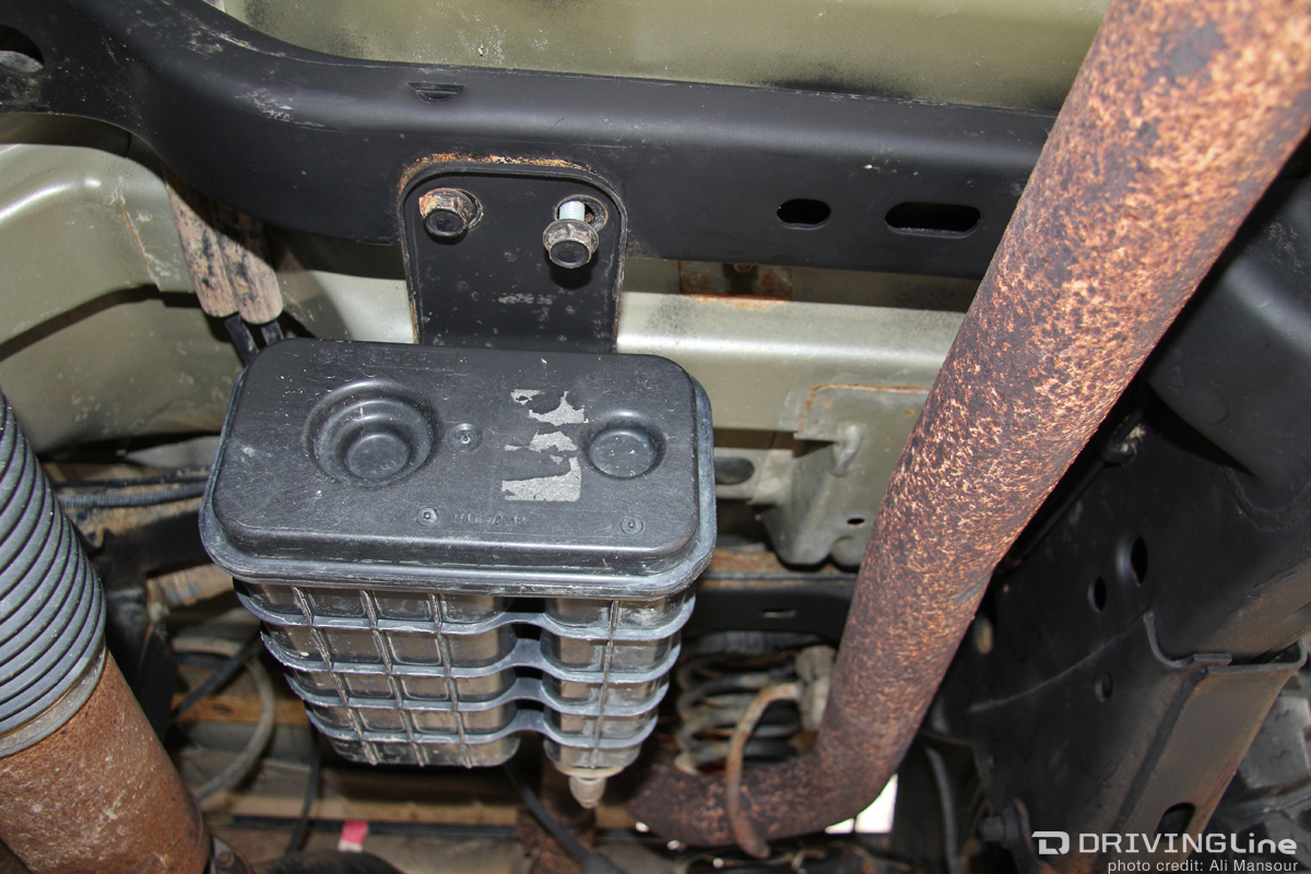 hight resolution of the evap canister on our 07 wrangler unlimited had nothing to protect it from the factory depending on the age of the jeep you may find that the hoses