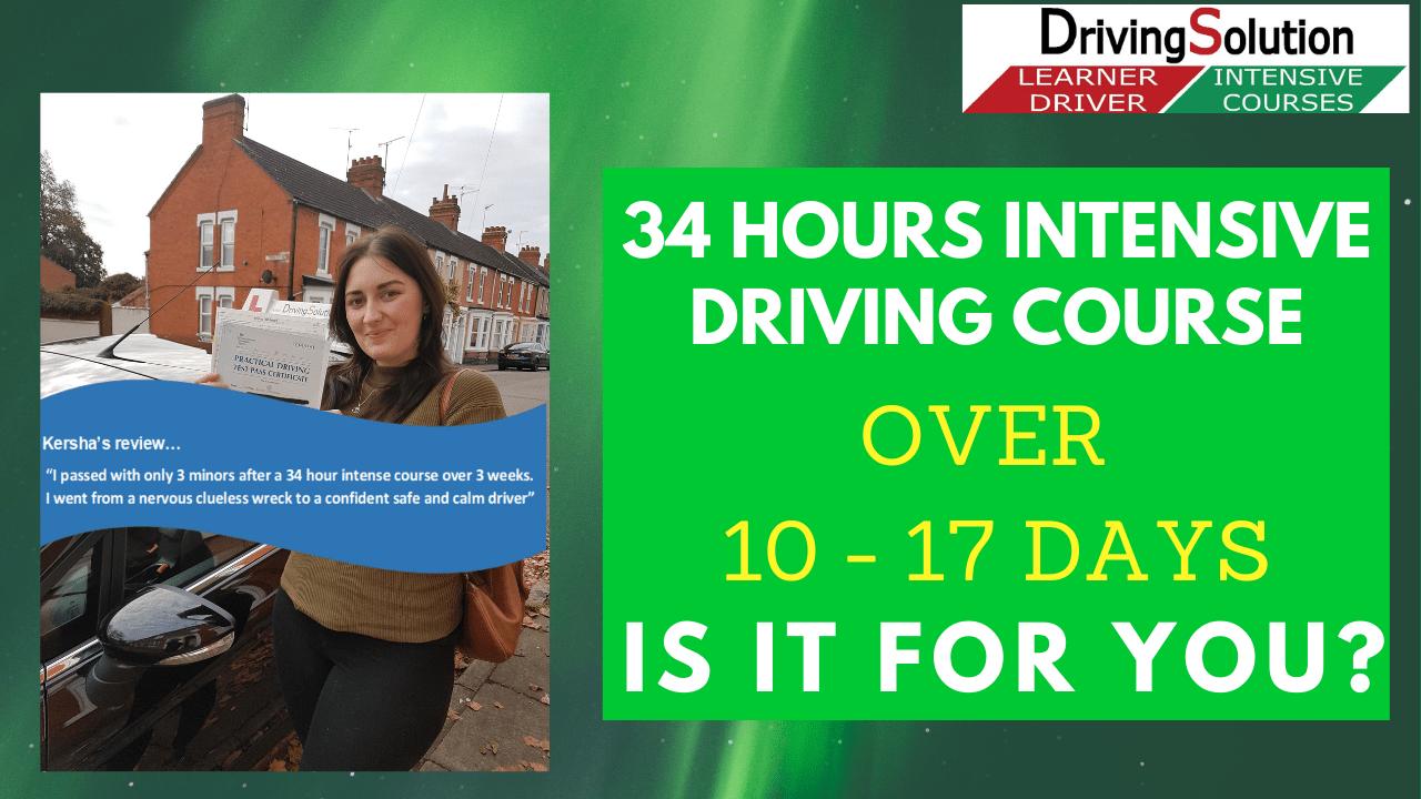 Intensive driving lessons Wellingborough