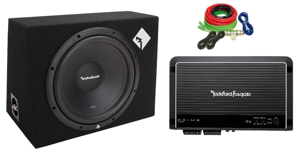 medium resolution of rockford r1 1x12 sub r150x2 amp wiring kit package driving sound p1 sub wiring