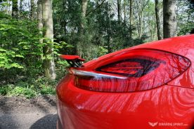 Porsche Boxster 981 Rear Lights, Spoiler Up
