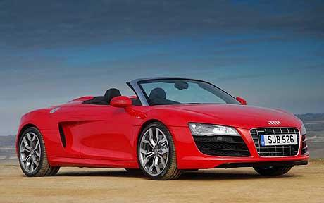 audi-R8-spyder in red