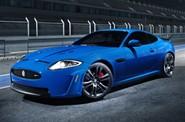 Jaguar XKR-S in blue
