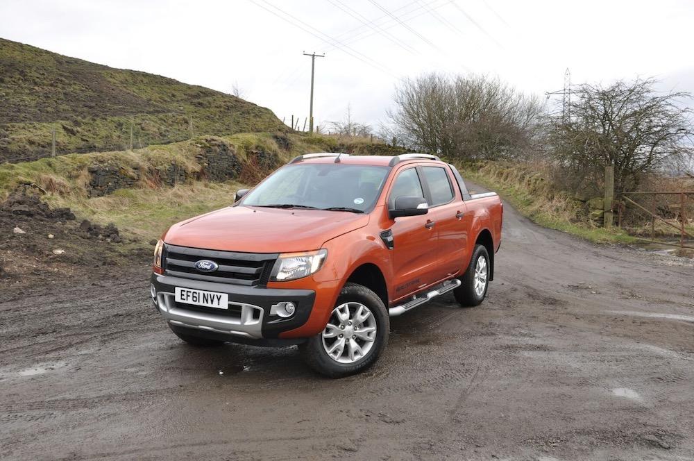 Ford Ranger Wildtrak orange front and side