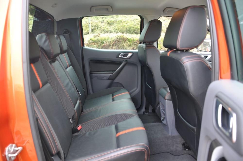 Ford Ranger Wildtrak rear seats