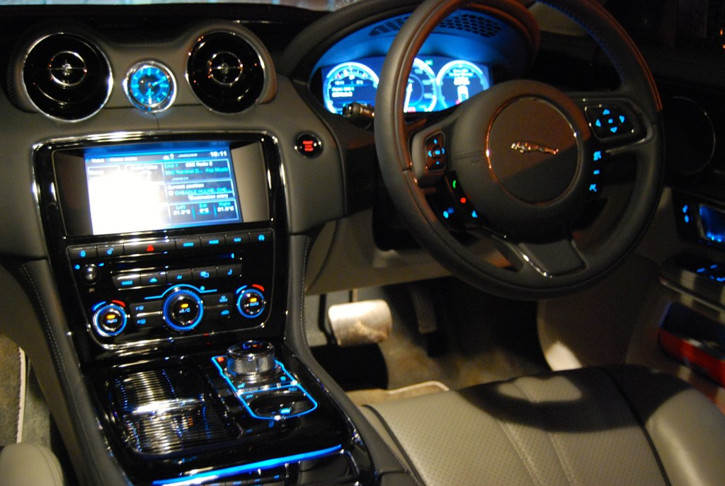 Jaguar XJL interior at night