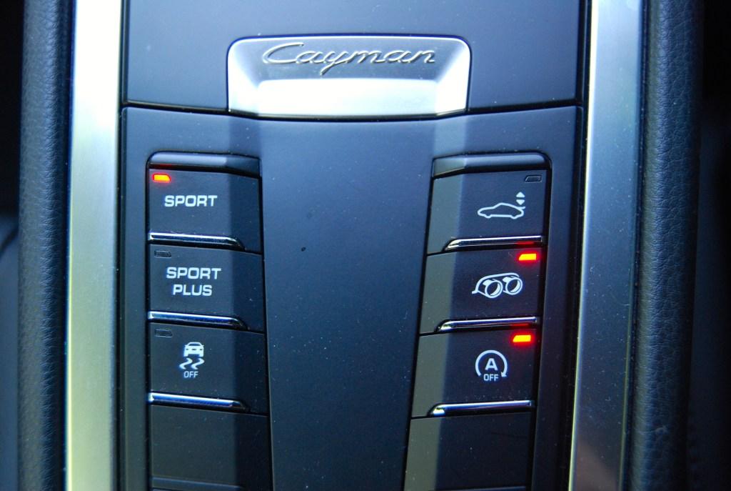 Porsche Cayman sports modes
