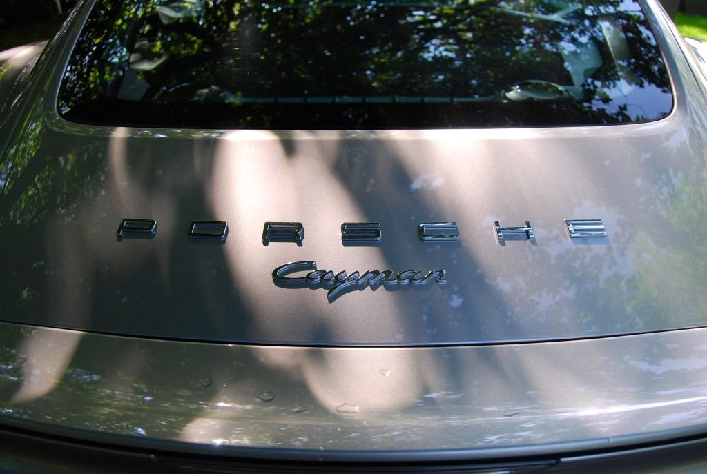 Porsche Cayman boot badge