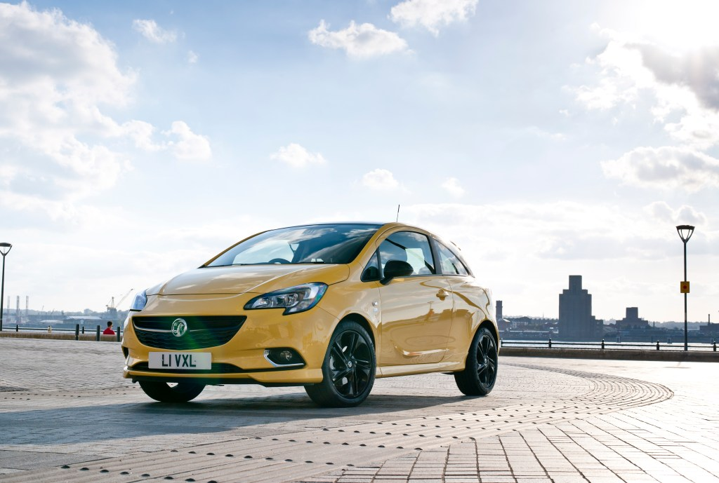 New_Vauxhall_Corsa_3_door_front_yellow