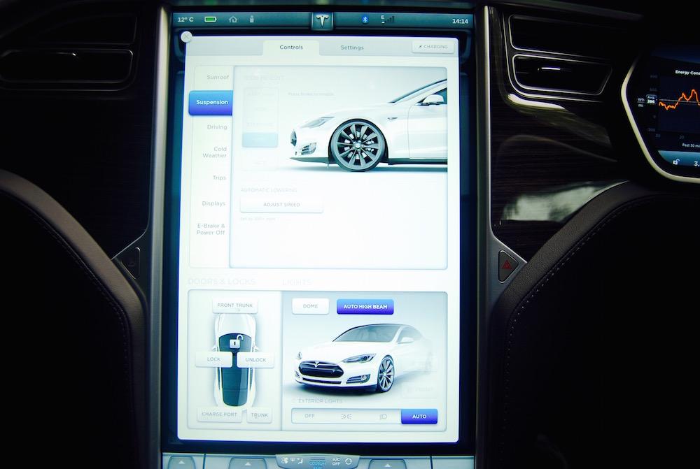 Tesla Model S central screen