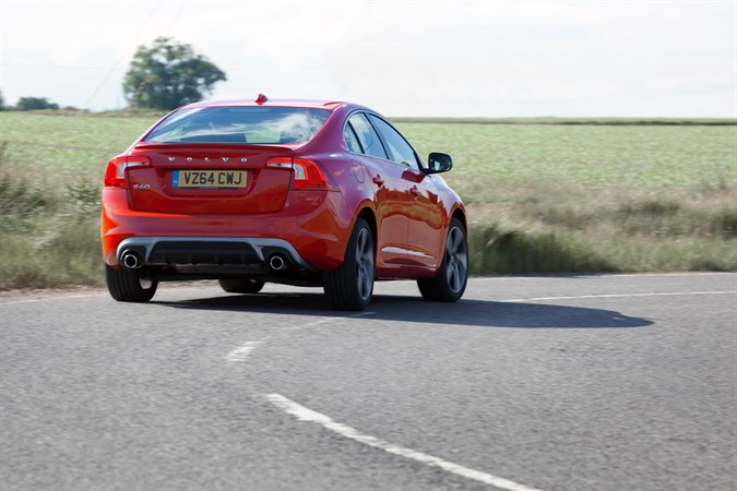 volvo s60 r-design red rear