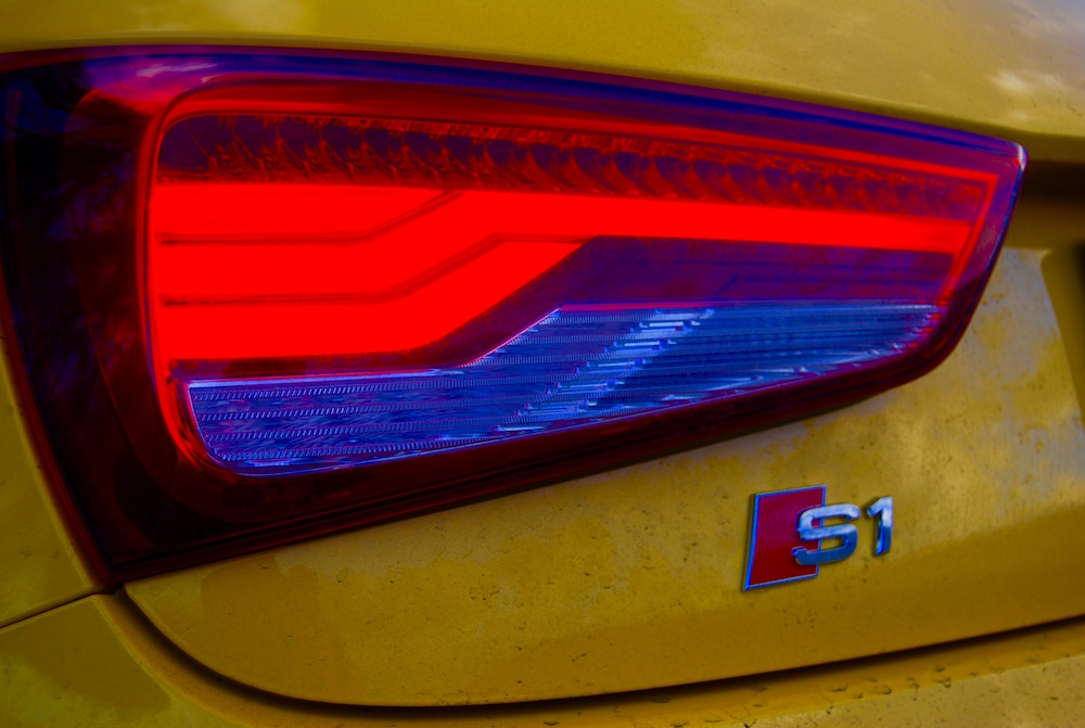 Audi S1 Vegas Yellow rear light badge