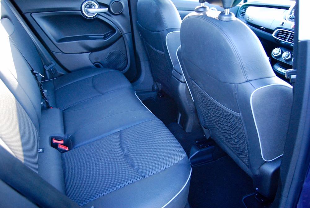 Fiat 500x rear seats