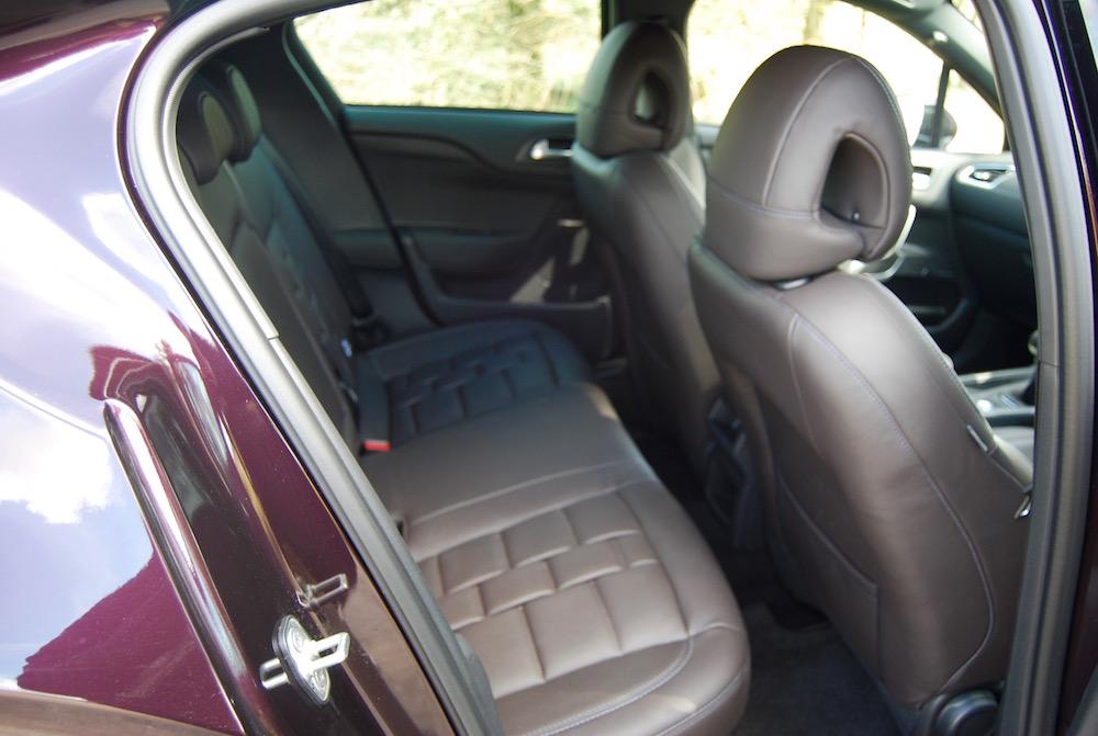 citroen ds 4 review rear seats