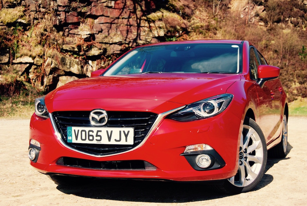Mazda 3 sport nav red front review