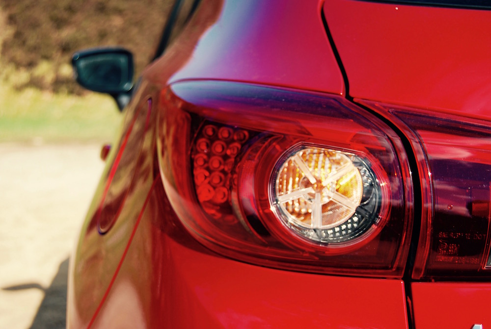 mazda 3 sport nav review rear light