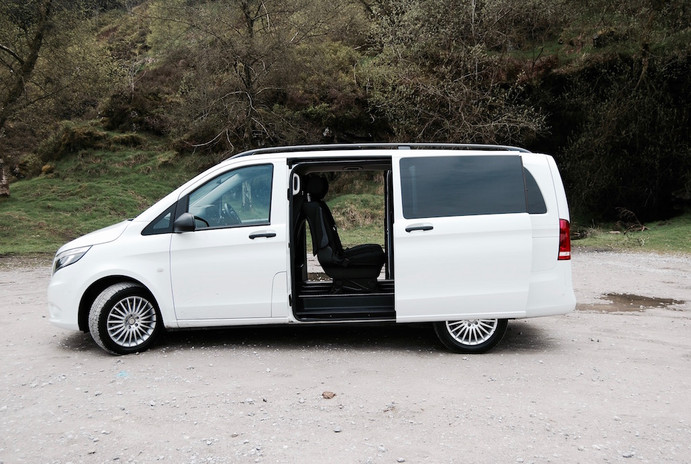 mercedes benz vito tourer rear doors white