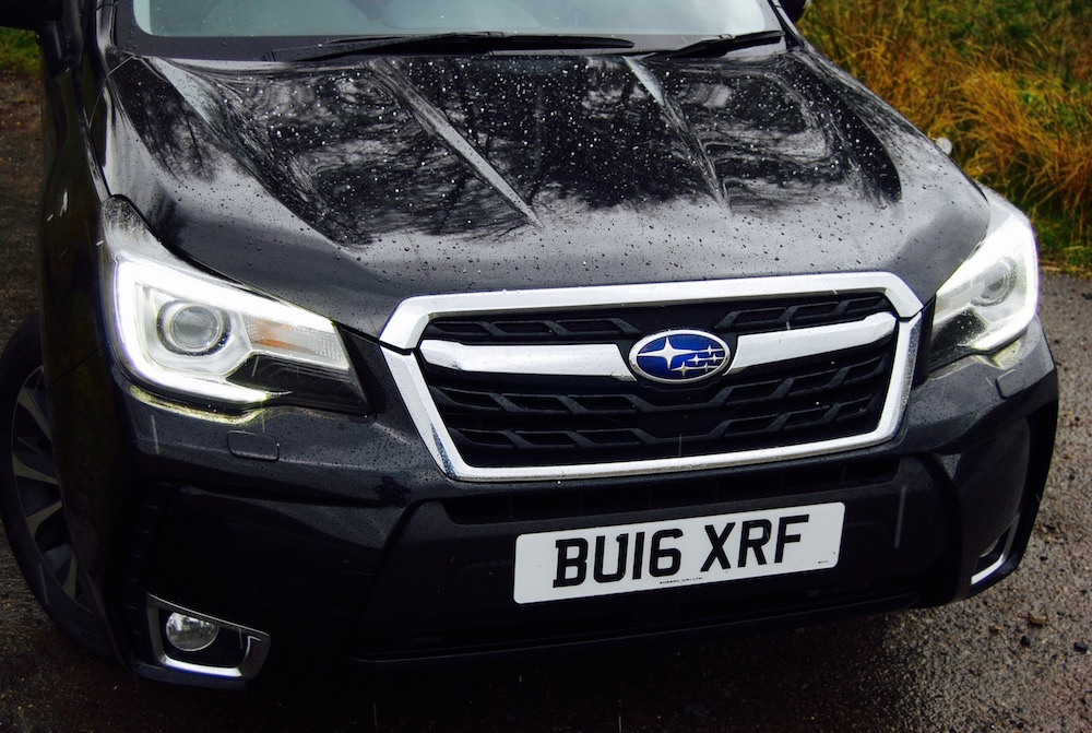 subaru forester xt front grille black review