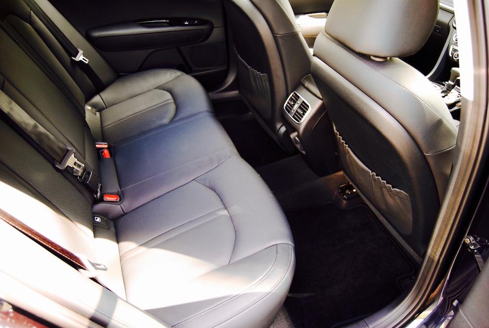 kia optima review rear seat legroom