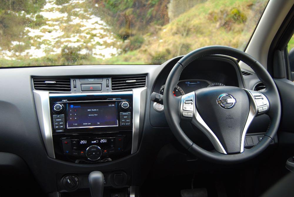 Nissan Navara Tekna cabin interior