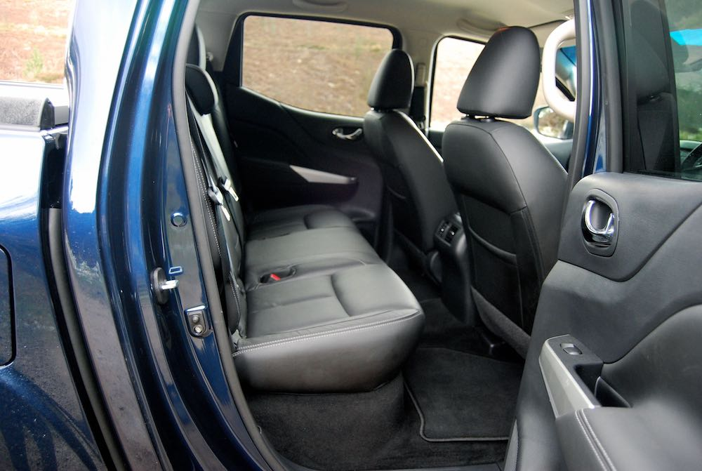 Nissan Navara rear seats blue