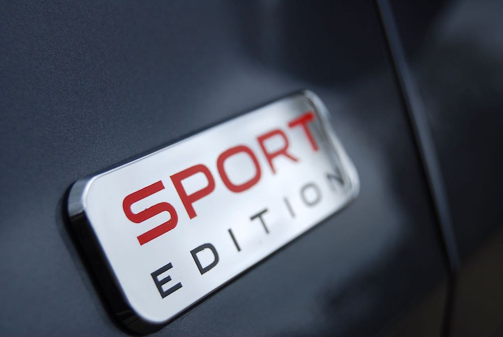 Tucson grey sport edition badge