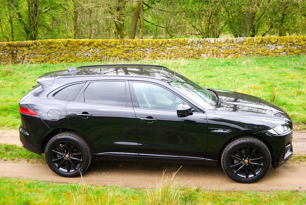 Jaguar F Pace side black