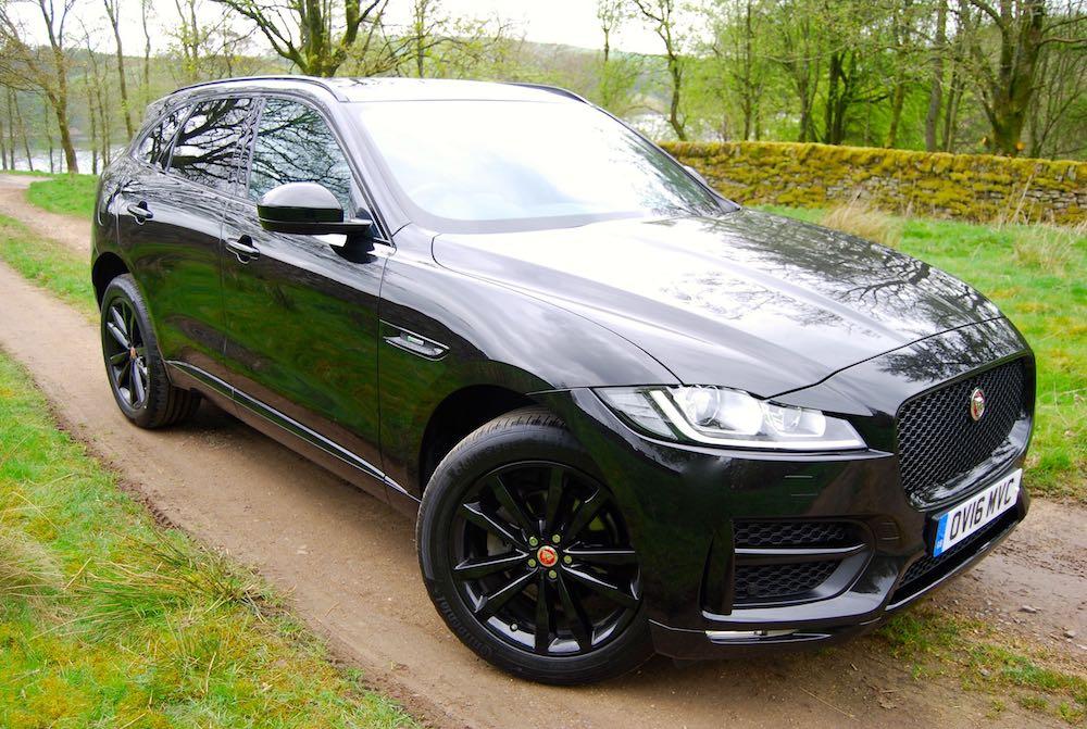 Jaguar F pace front side black