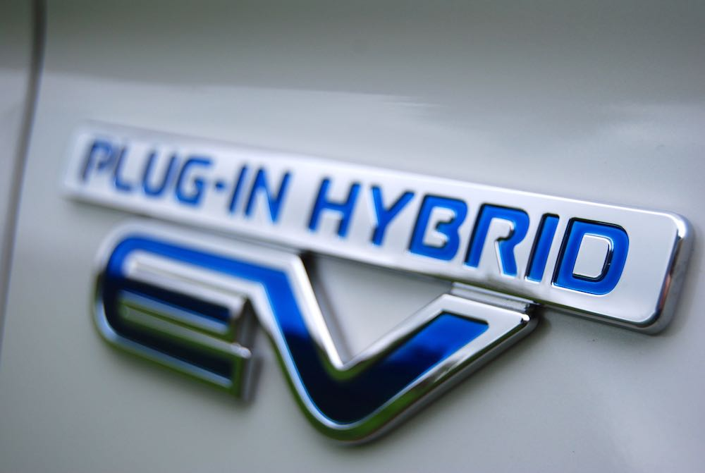 mitsubishi outlander phev ev badge